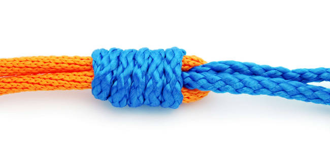 How to tie an Improved Albright Knot - Braid to Leader. image